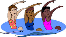 Water fitness instructor class